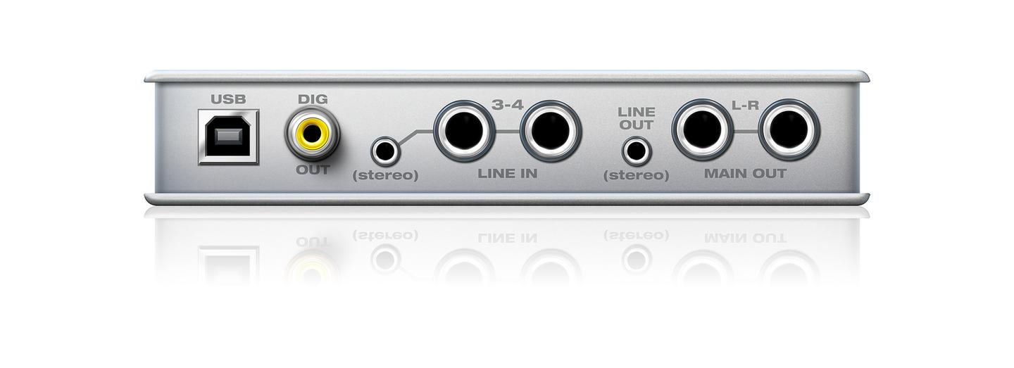 It can record up to four inputs simultaneously from dedicated guitar and mic sockets at the front and a couple of line-in sockets to the rear