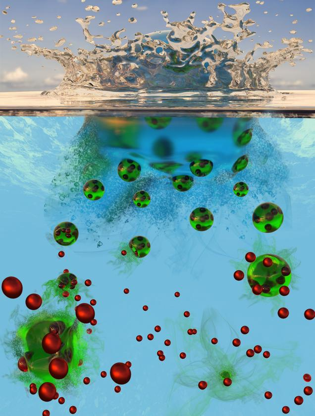 An artist's impression of microparticles containing nutrients