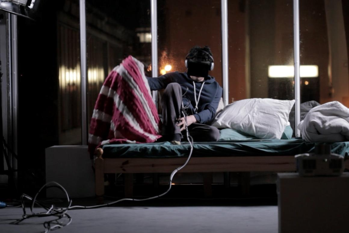 British artist Mark Farid is pledging to spend 28 days isolated inside virtual reality