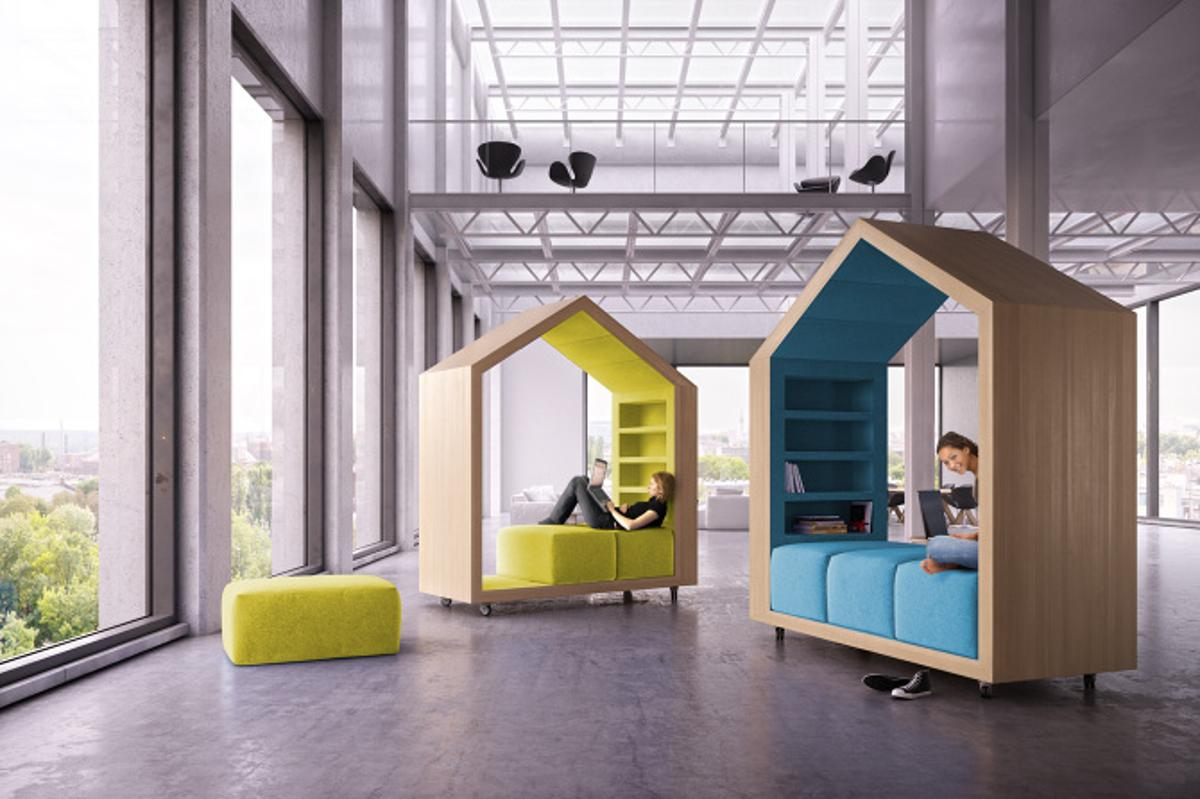 """The Break-out Furniture series can be joined together to create a """"house"""" within a house or be used independently to create a private recreational zone"""