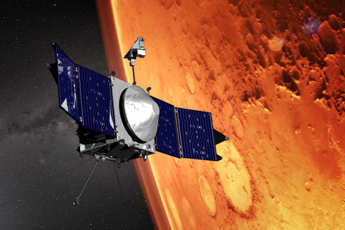 Artist's concept of the MAVEN orbiter