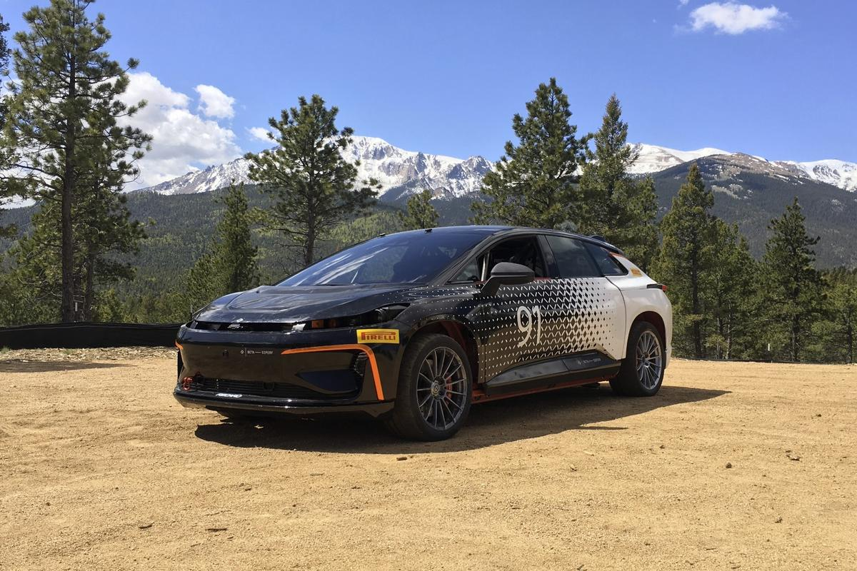 The Beta development FF 91 that Faraday Future will be taking to the Pikes Peak International Hill Climb later this month