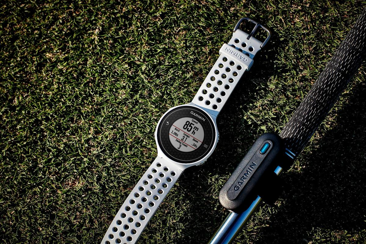 Garmin's new TruSwing sensor can relay information to Garmin's recent Approach golf watches, such as the S20