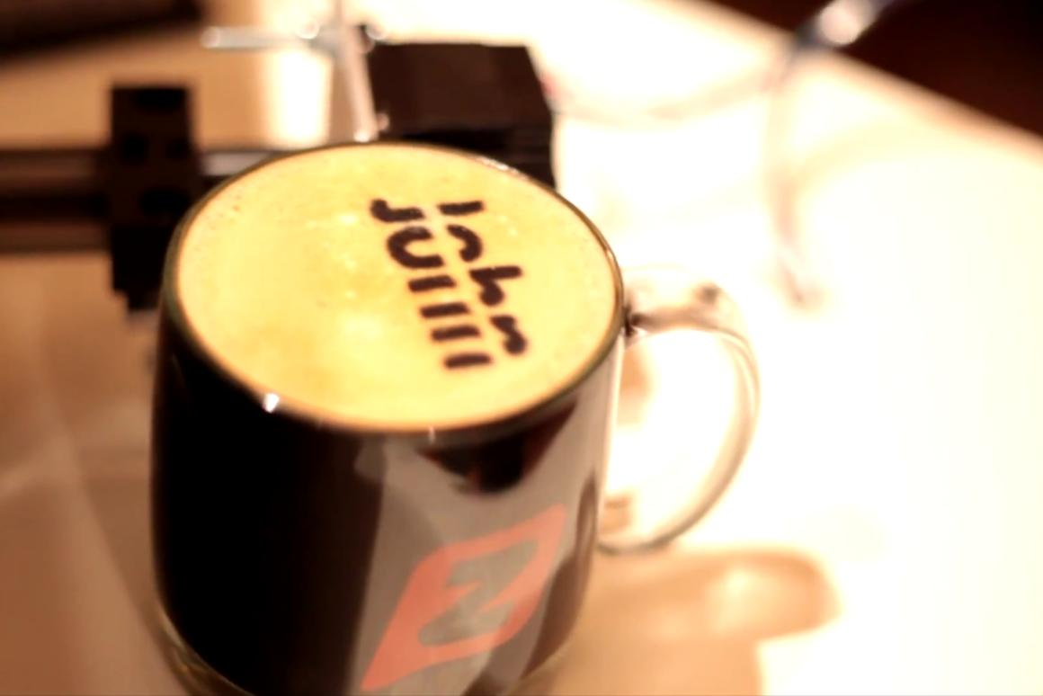 """A start-up in Seattle has created the """"Textspresso,"""" a coffee machine that accepts and prepares specialized coffee orders via text message and will soon also print directly onto the coffee's top layer of cream"""
