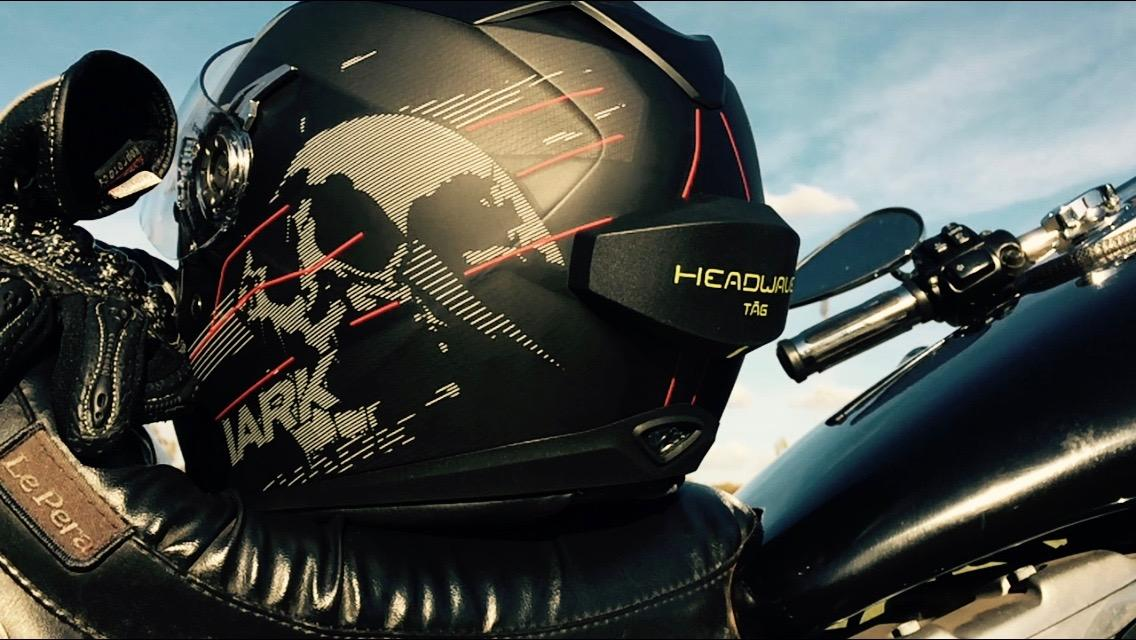 The Headwave Tag applies soundwaves to the outside of the user's helmet to fill the inside with audio