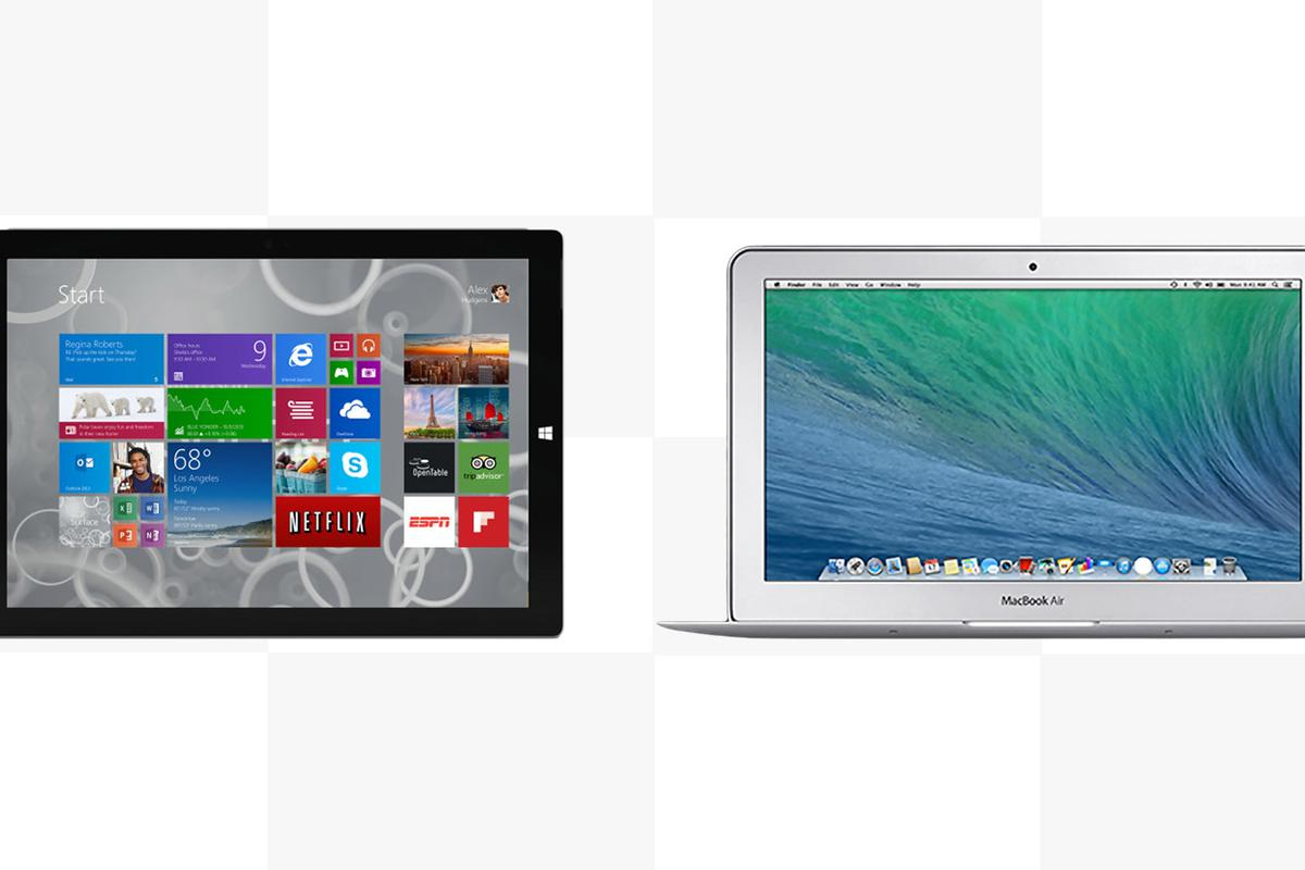 Gizmag compares the features and specs of the Surface Pro 3 and 11-in MacBook Air