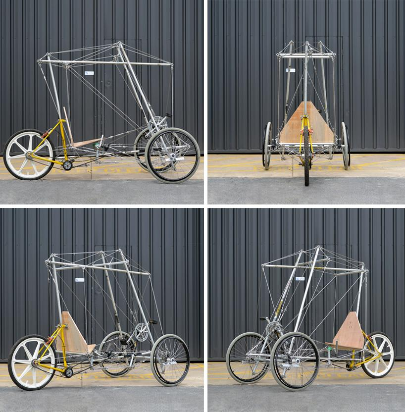 The frame can be made with common household tools – the construction method requires no welding