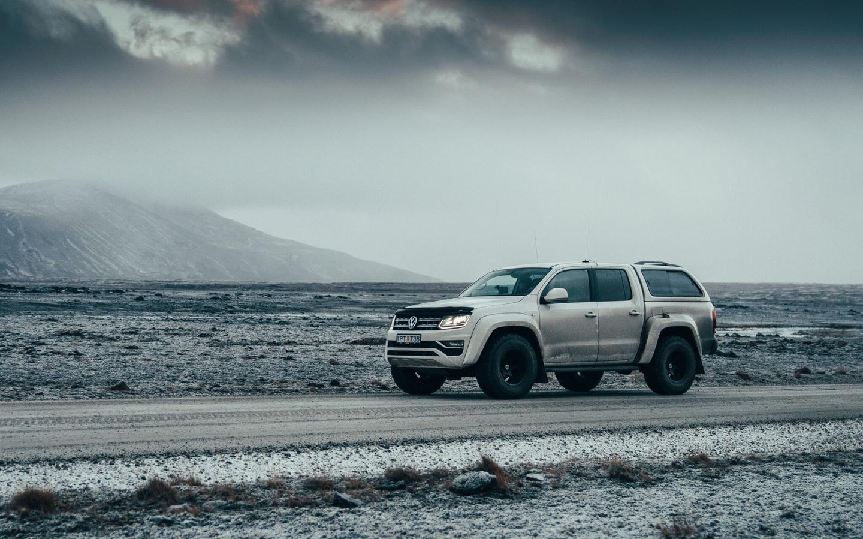 Arctic-ready Volkswagen Amarok pickup truck makes cappuccino