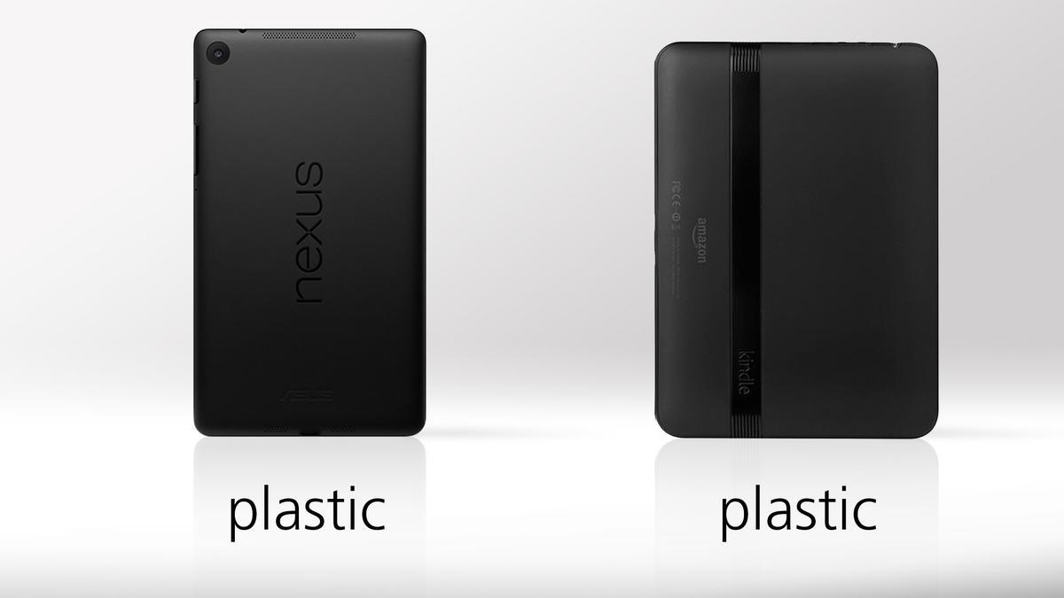 Both tablets have black matte plastic finishes