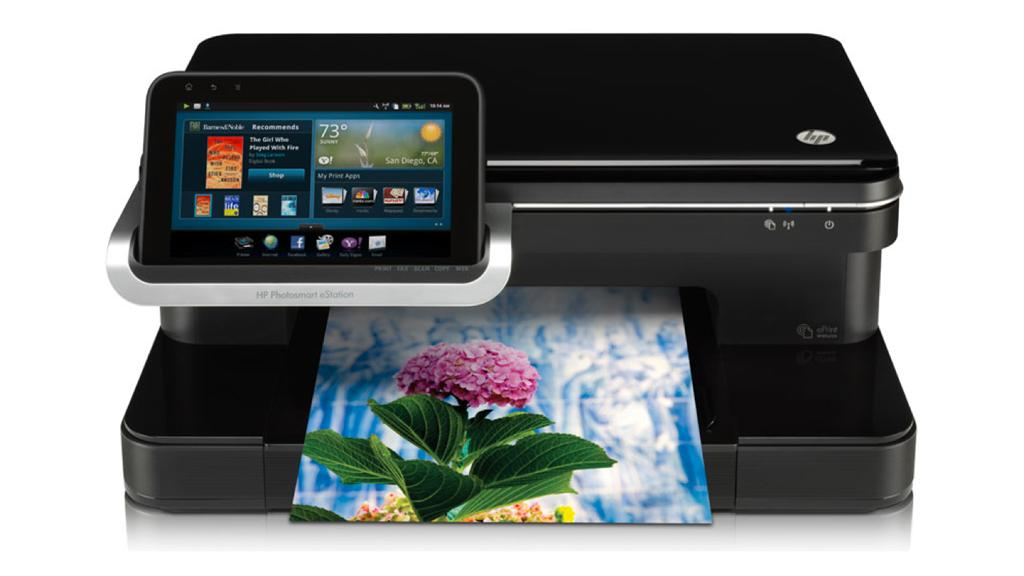 The Photosmart eStation All-in-One printer with detachable 7-inch Android tablet