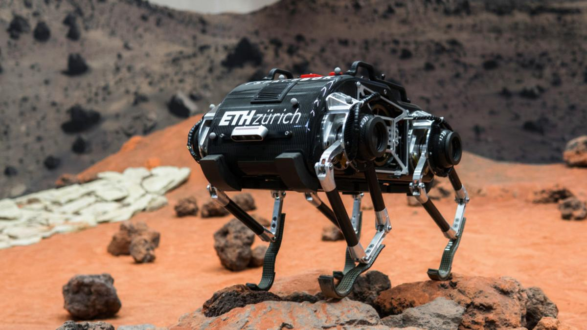 TheSpaceBok robot is designed to bound around low-gravity environments