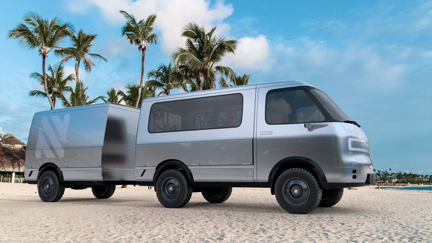 Cruising the beach in the next-generation surf camper van