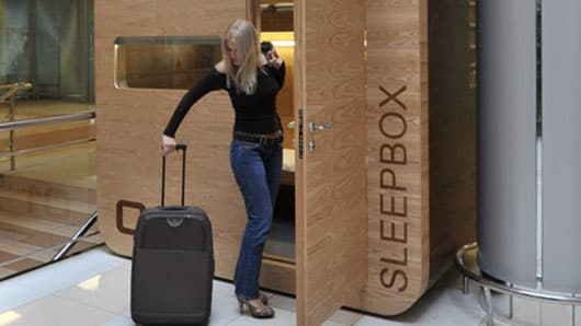 Arch Group's first Sleepbox unit at Sherematyevo Airport Moscow
