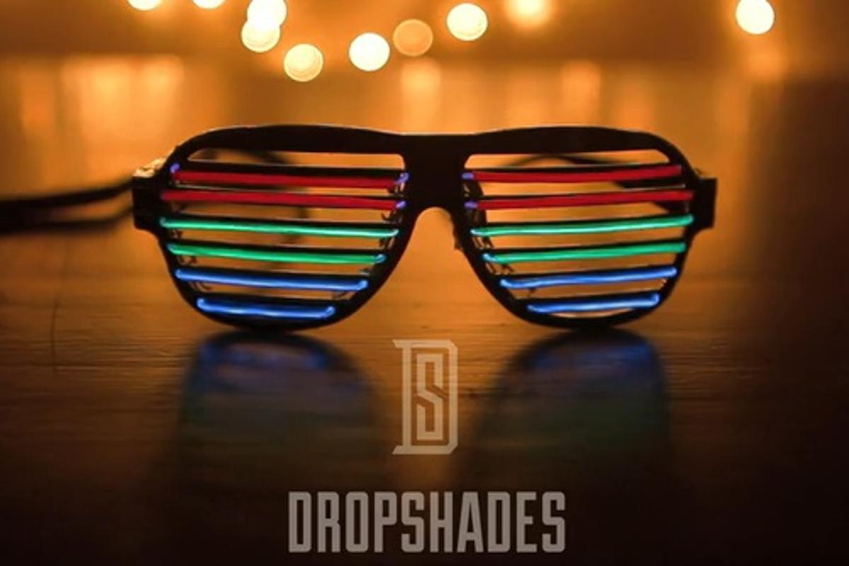DropShades are sound-reactive sunglasses with LED bars that pulsate in time to music