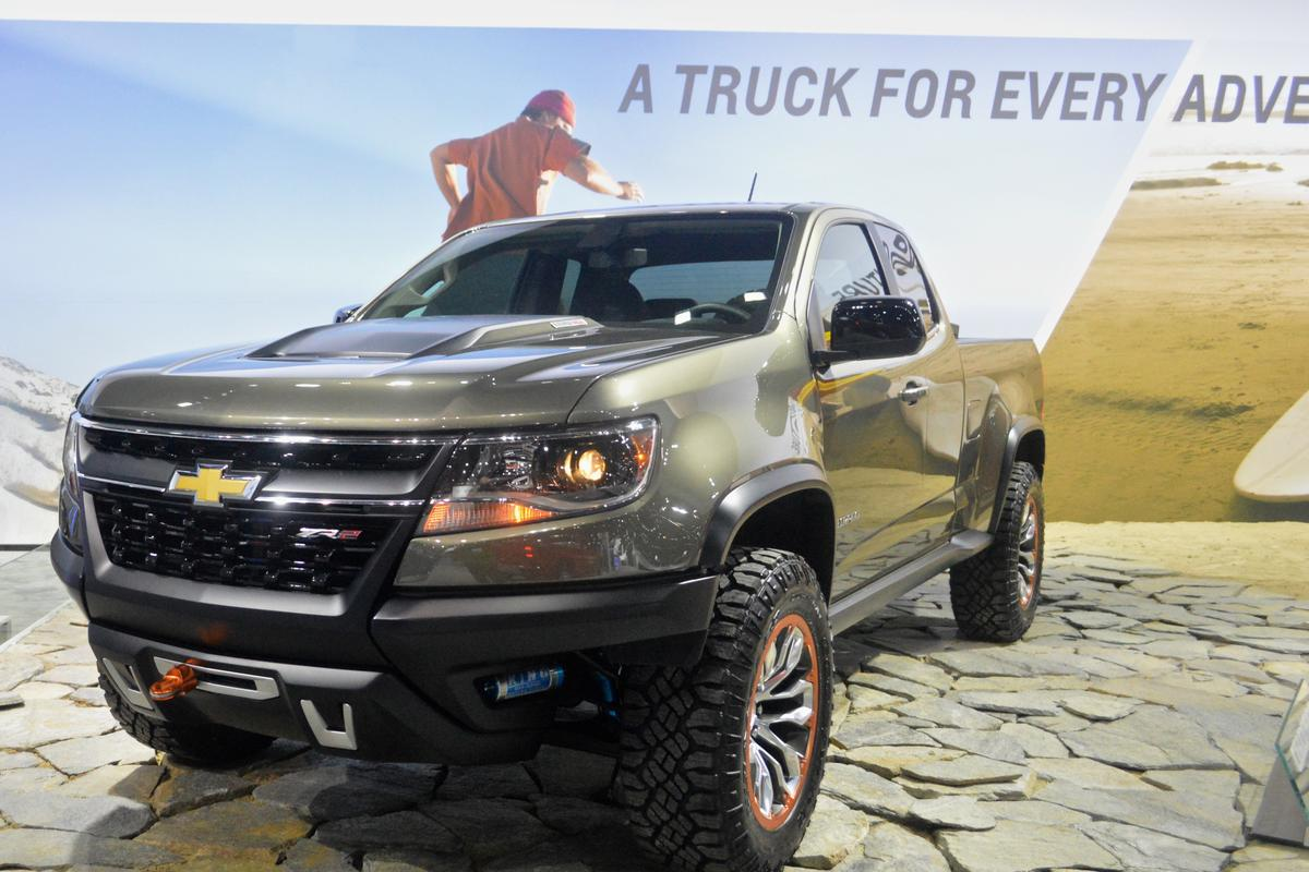 The ZR2 is Chevy's vision of a mid-size truck with enhanced off-road capabilities (Photo: C.C. Weiss/Gizmag)