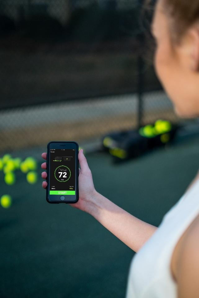 If users don't want Tennibot getting underfoot as they're practising, they can utilize an accompanying iOS/Android app to stipulate what part of the court it should stick to