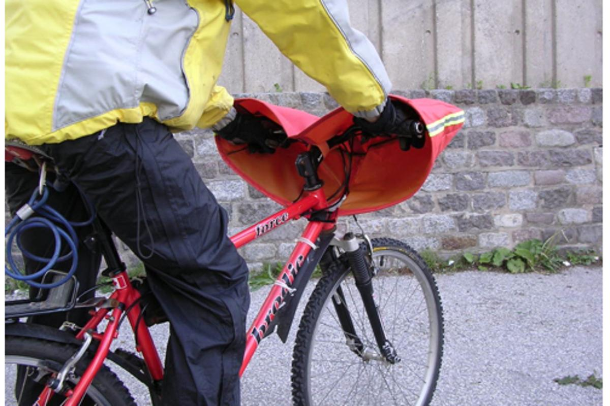 The BarBra TM cycling windchill guard