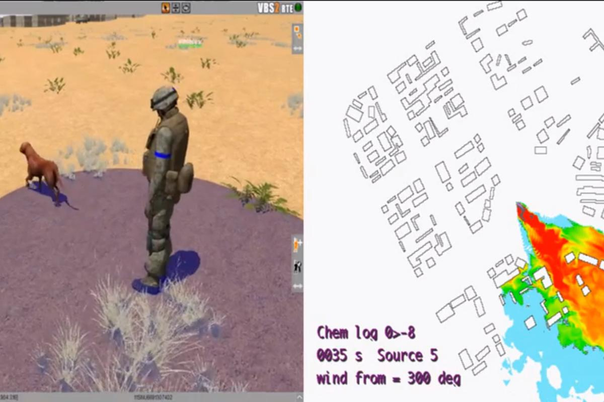 Rover is a video game developed by the US military that uses an Xbox Kinect to help train dog handlers to detect subtle cues from bomb-sniffing canines