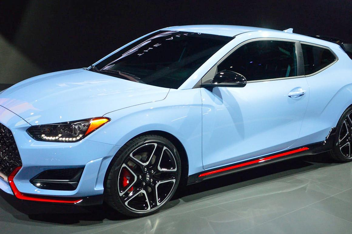 The new 2019 Hyundai Veloster features both a special Turbo and a high-performance N variant (shown here)