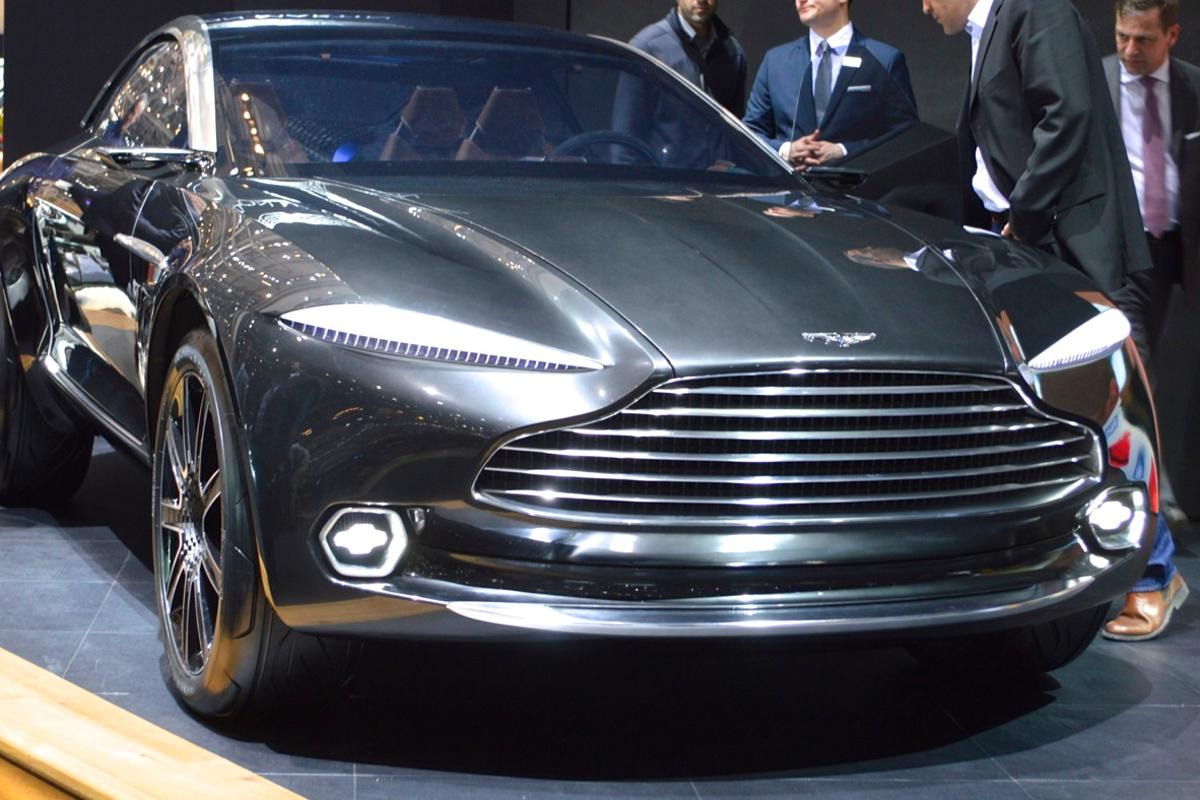 Aston Martin makes Geneva a little more fun with the unexpected DBX Concept (Photo: C.C. Weiss/Gizmag)