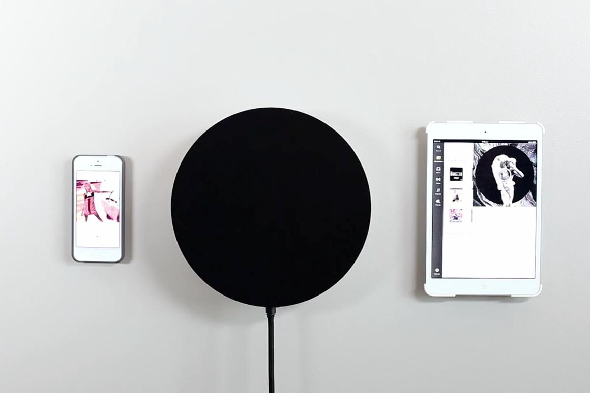 The PA1 wall-mounted Bluetooth speaker from Studio Proper