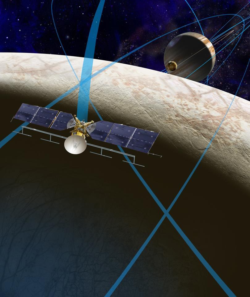 Artist's concept of the Europa Clipper (Image: NASA/JPL-Caltech)