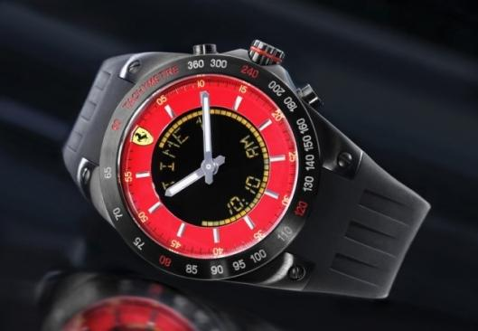 If you can't afford to drive one at least you can look the part wearing the new Ferrari limited edition Lap-Time Chronograph