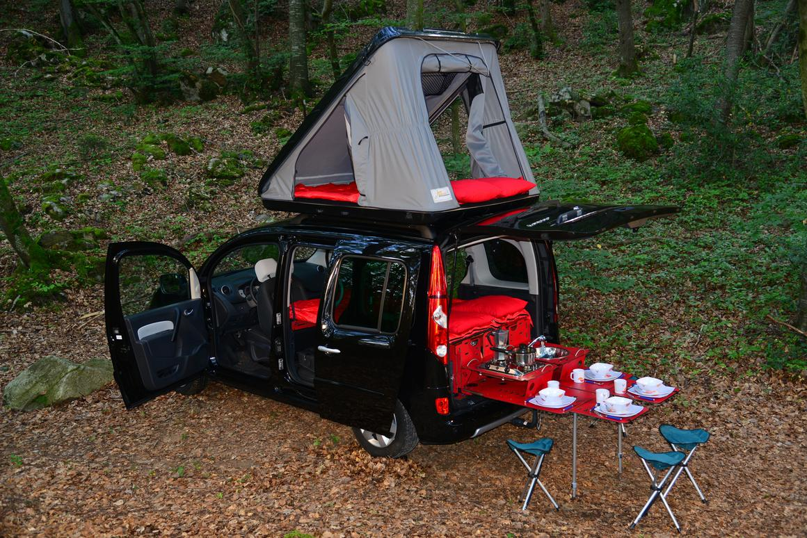 The SwissRoomBox EasyTech plus roof tent