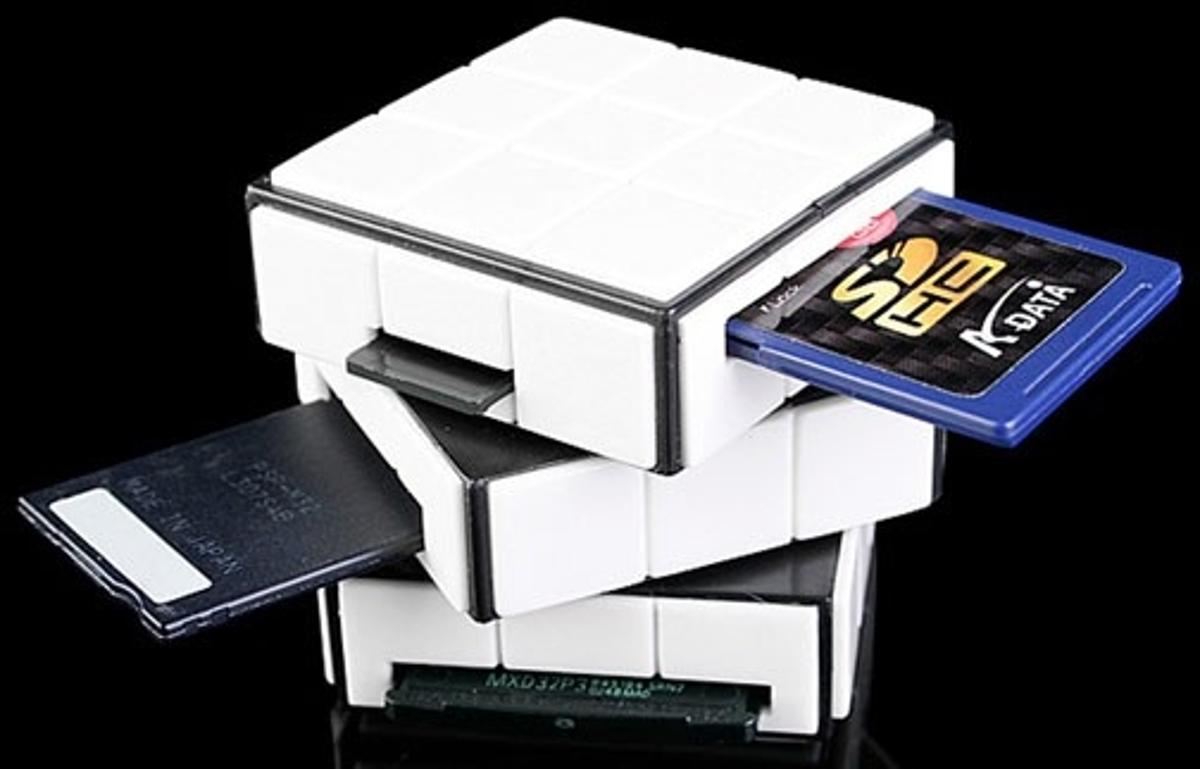 The USB card reader with a twist