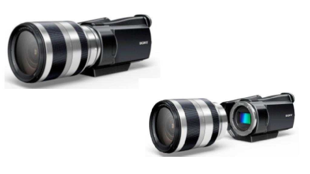 The Sony camcorder with interchangeable lenses is in development