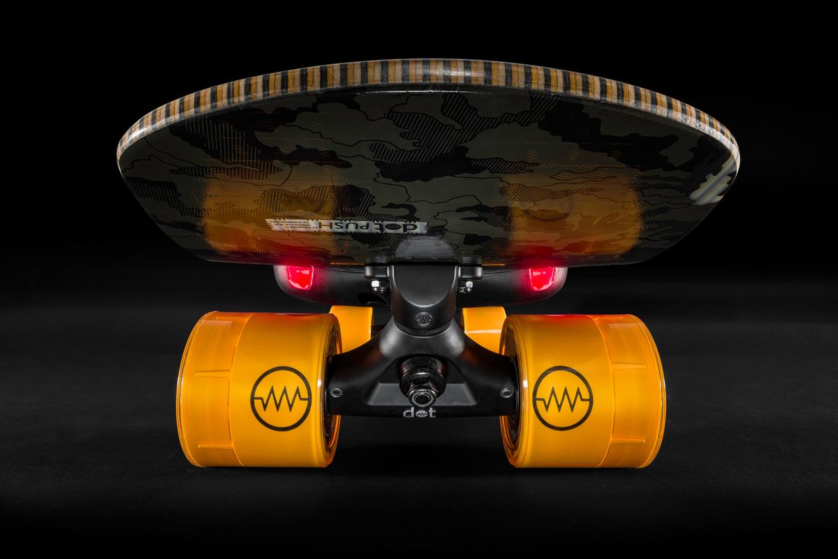 The dot electric skateboards have a top speed of 24 mph and a per charge range of 24 miles