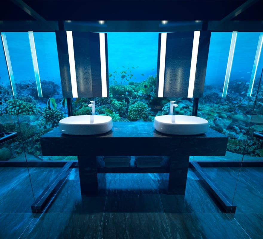 Underwater guest double bathroom