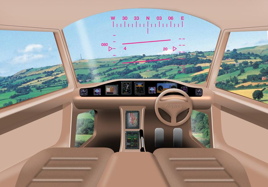 A concept PAV cockpit (Image by Gareth Padfield, Flight Stability and Control)