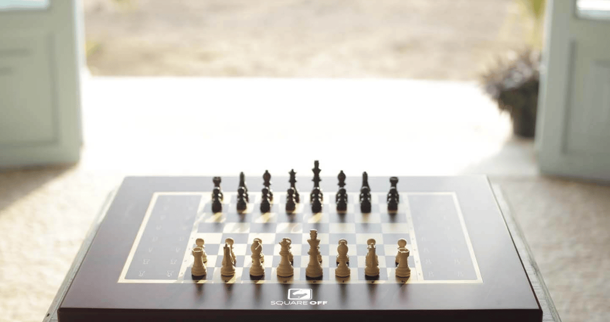 Square Offis an all-in-one automated chessboard which lets users play against anyone in the world