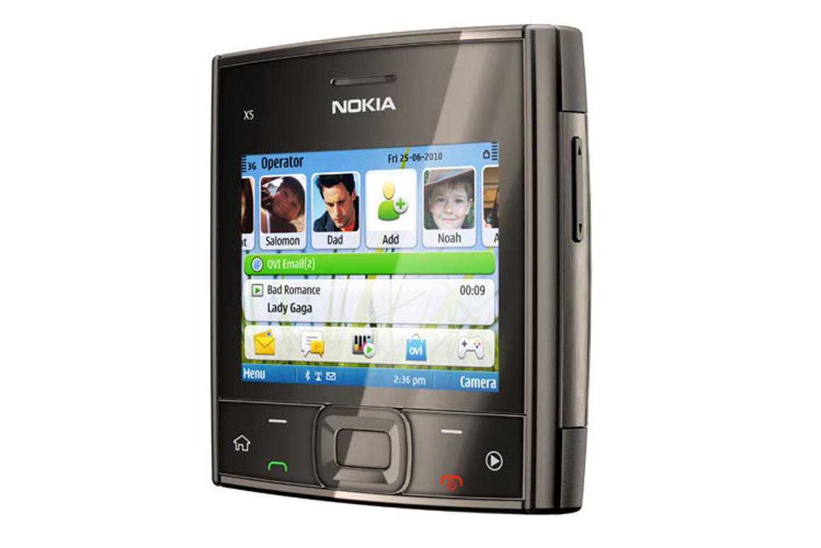 The Nokia X5-01 seems squarely oriented towards media and web browsing
