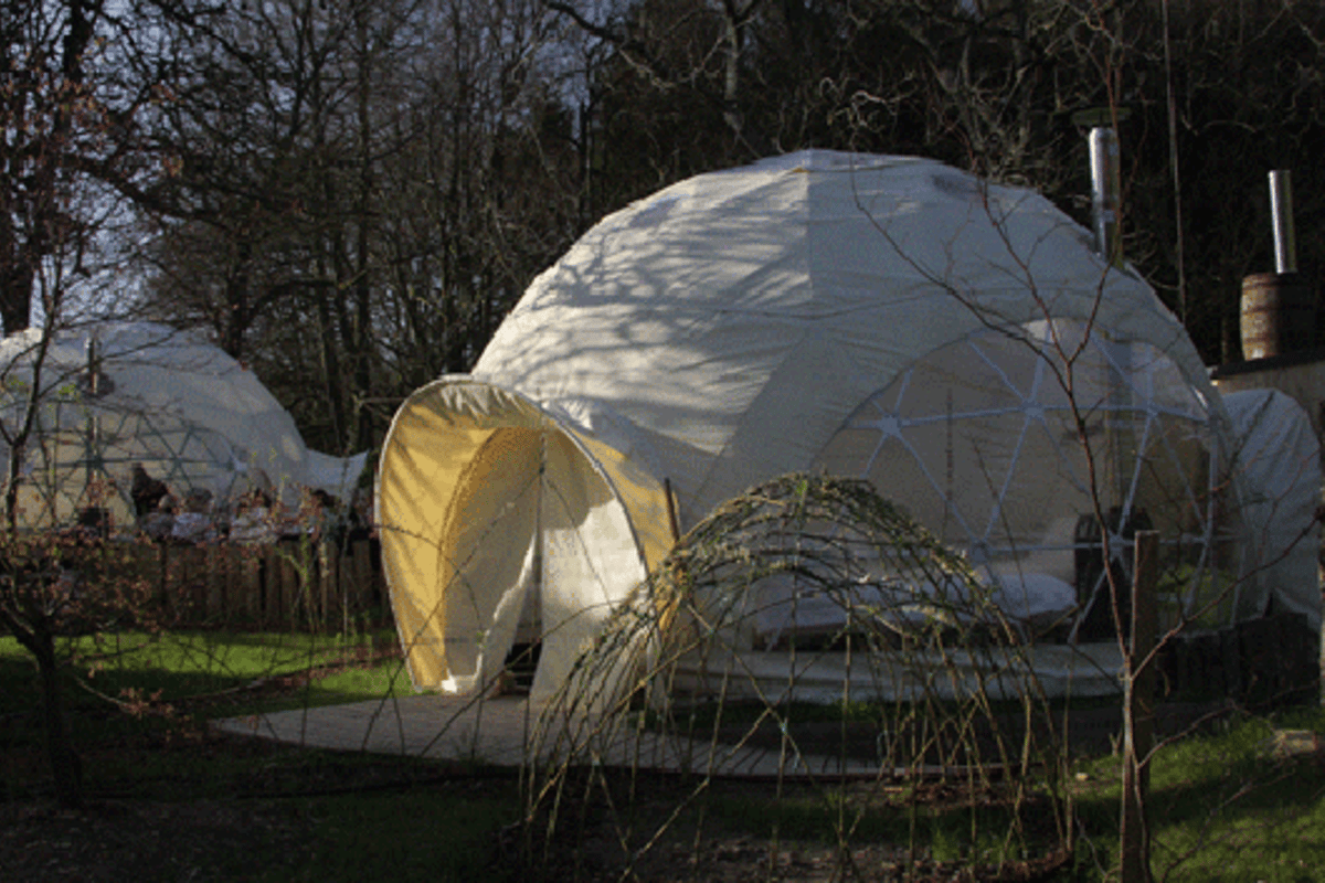 Glamping has become a popular option for some eco-tourists