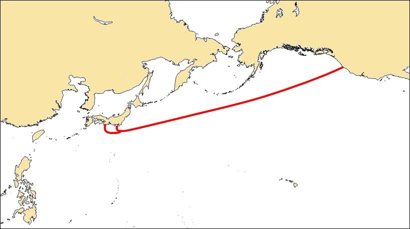 The route of the FASTER cable