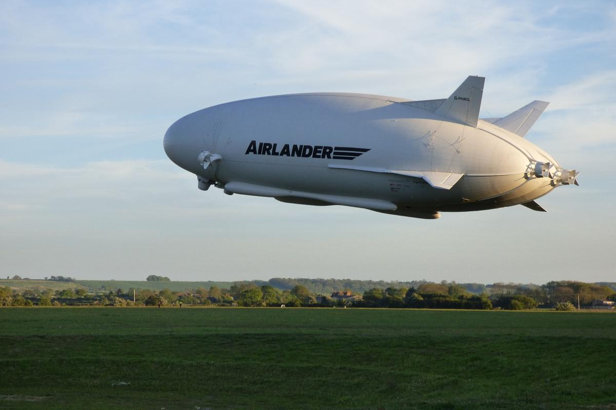 The Airlander 10 takes to the skies once again