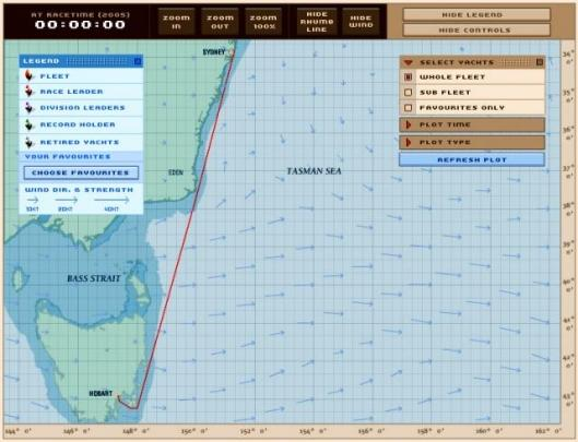 The yacht tracker interface