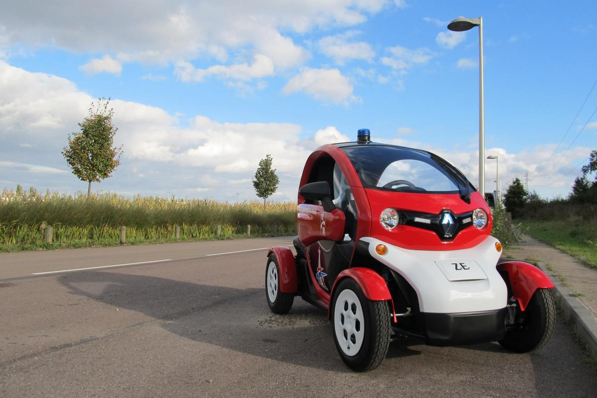 The Twizy fire prototype will be tested in and around Paris