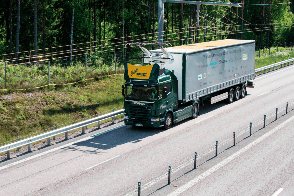 The electric highway will cover a two-kilometer (1.24 mi) stretch of public road to the north of Stockholm