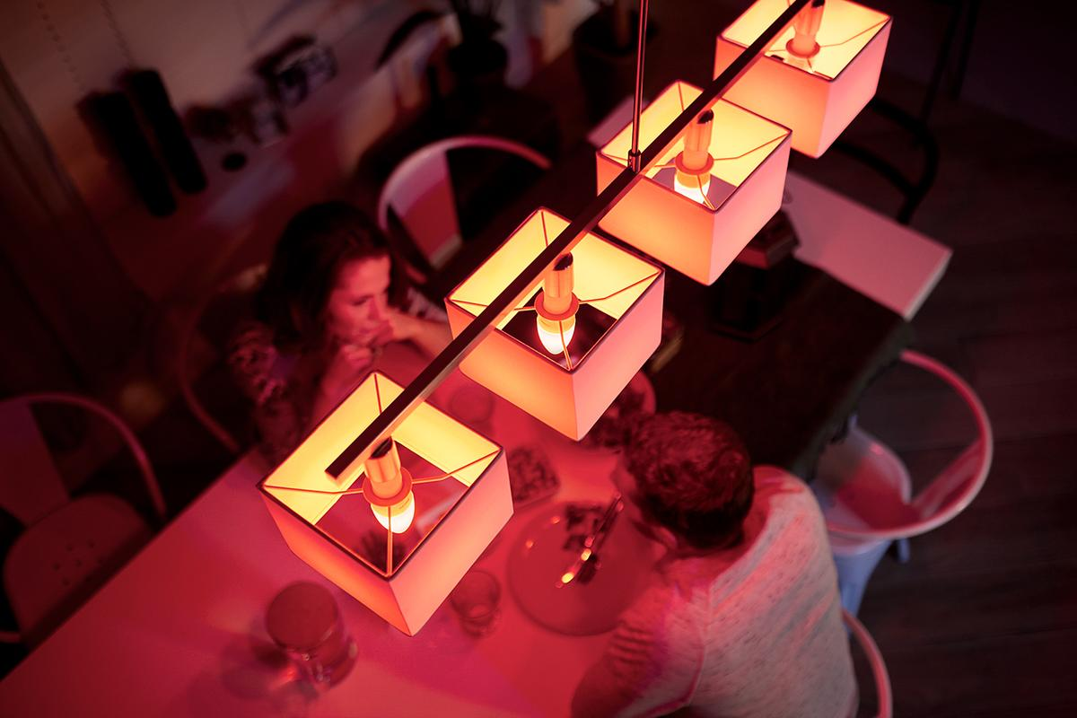 Both versions of the Philips Hue candle lightbulbfeature a temperature range of 2,200k to 6,500k