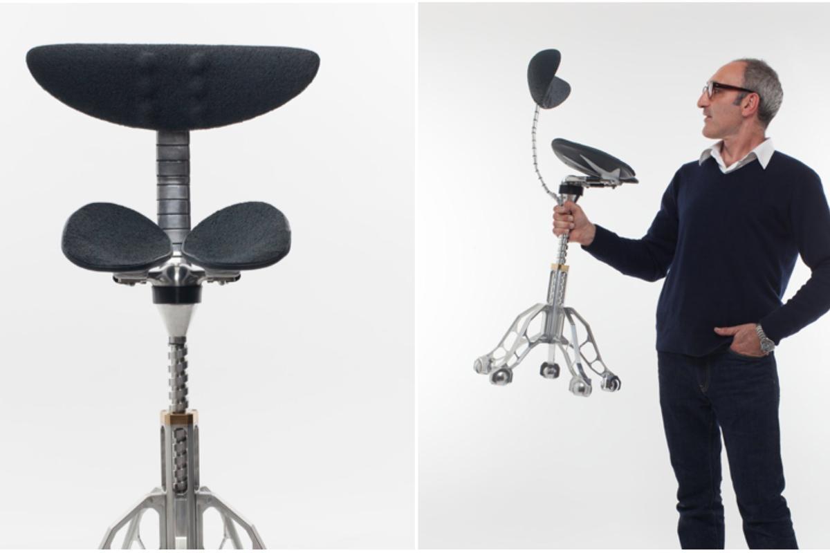 Simon Freedman and his FreedMan Chair