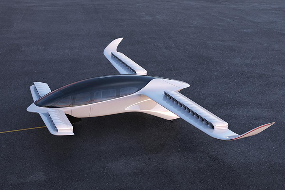 With its rows of small, ducted fans, the Lilium eVTOL aircraft may be at a disadvantage in a hover, but the company says the design offers some serious advatnages over the open-rotor competition