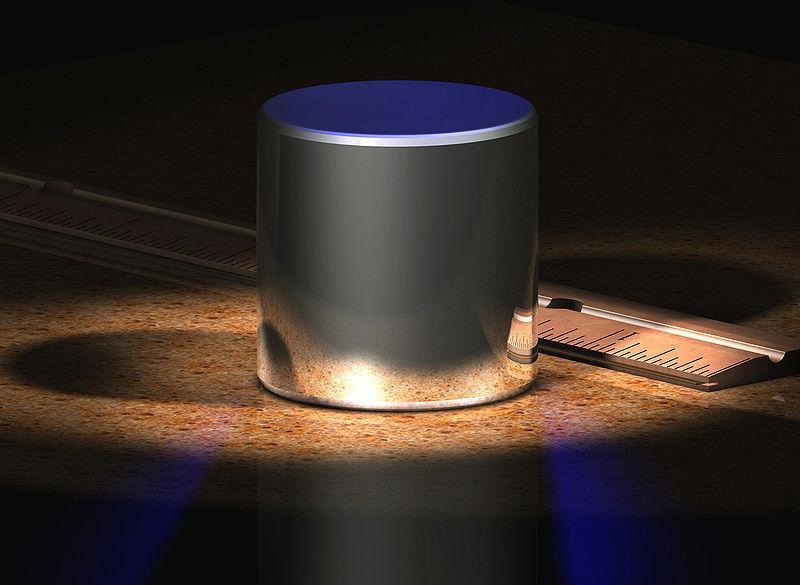 Artist's rendering of the International Prototype Kilogram (Image: Greg L)