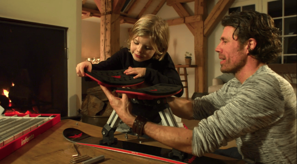 Before the Infento sled hits the snow, it serves as a building project for children and parents