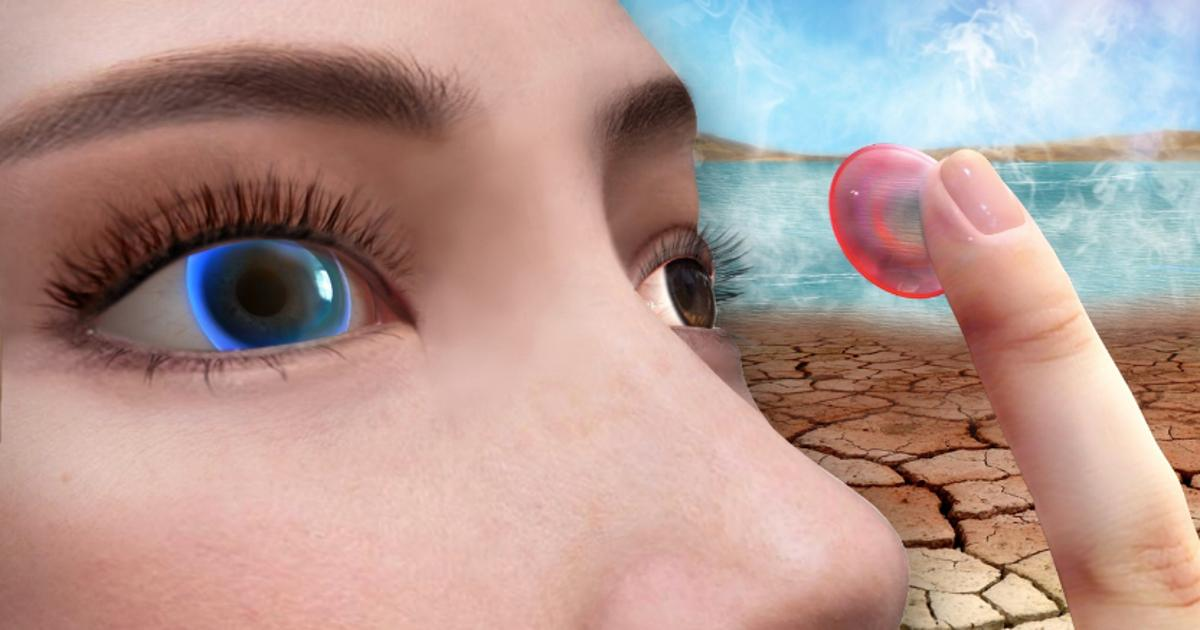"""""""Smart"""" contact lens detects eye afflictions by changing color"""