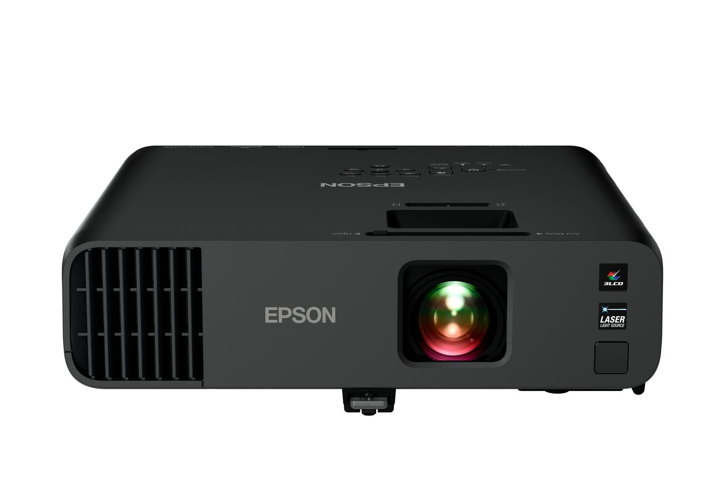 Epson's EX Series business projector additions includes this Pro EX10000 Full HD model with 3-chip 3LCD projection technology, a laser light source, wireless technology and a built-in audio system