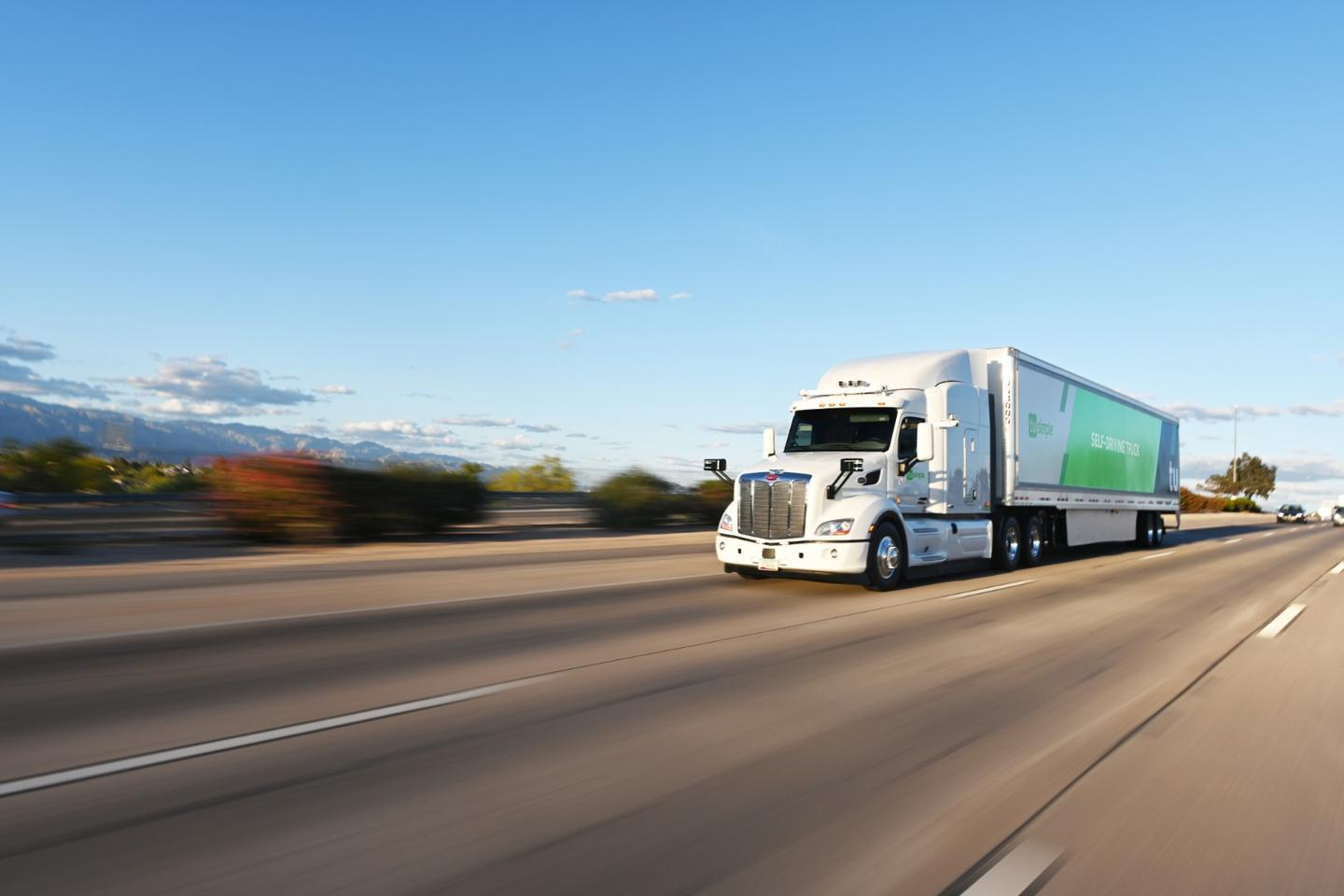 TuSimple's self-driving trucks will be used as part of a two-week trial for the US Postal Service
