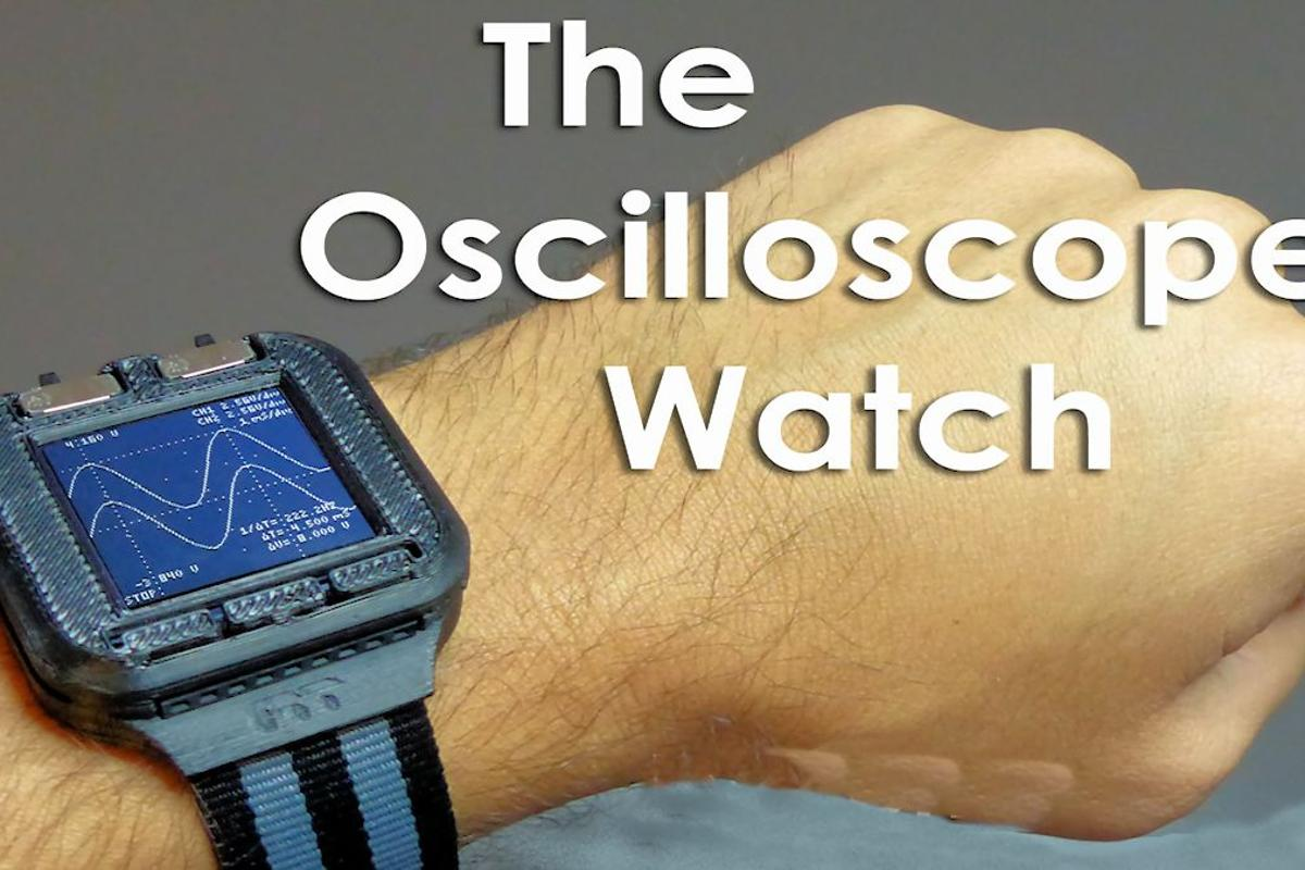 The Gabotronics Oscilloscope Watch is a testlab on your wrist (Photo: Gabotronics)